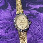 Womens Vintage Sapphire Diamond Topaz Quartz Wrist Watch Jewelry Adjustable
