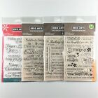 Hero Arts Lot Of 4 Clear Stamp Sets Friends Everyday Sayings Christmas Messages