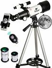 Travel Telescope For Kids 70mm White With Mount Astronomical Refractor Mini