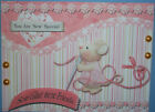 HANDMADE 3 D BIRTHDAY GREETING CARD WITH A SENTIMENT SEW GLAD WERE FRIENDS