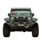 Front Bumper with Winch Plate Black Textured Fit for 07 18 Jeep Wrangler JK