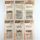 Hero Arts Stamp  Cut Lot Of 6 Clear Stamp Die Sets Thanks Happy Congrats Hello