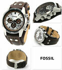 NIB Fossil CH2565 Men's Coachman Quartz Stainless Steel & Leather Casual Watch