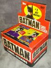Vintage 1989 New Topps Batman Cards+Stickers Display Box Full Unopened 18 packs