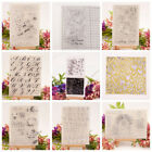 Transparent Clear Silicone Rubber Stamp Cling Diary Xmas Scrapbooking DIY MA
