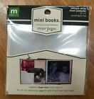 Making Memories mini books inner pages antique white sheet protector 4x4