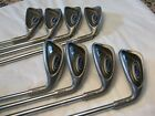 Ping G5 Irons 4 thru SW RH White Dot Steel Shafts Stiff Flex Original Grips