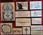 Pick 1 Brand New Stampabilities Rubber Stampede Religious Stamp Retired