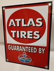 Atlas Tires Guaranteed by Standard Amoco gas oil gasoline Sign