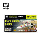 VALLEJO 71612 Star Fighter Sci-Fi Colors Model Air Paint Set FREE SHIP