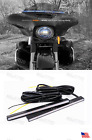 LED Front Fairing Running + Turn Signal Lights Road Street Glide Harley Bagger