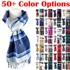 Mens Womens Winter Warm SCOTLAND Made 100 CASHMERE Scarf Scarves Plaid Wool