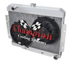 3 Row Perf Radiator W 2 10 Fans for 1970 1985 Jeep CJ Series Chevy Config