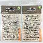 Hero Arts Lot Of 2 Clear Stamp Sets Celebrate Everyday  Friends Phrases Sayings