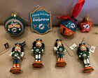 Miami DOLPHINS NFL Christmas Ornaments Wood Glass Metal Nutcracker Jingle Bell