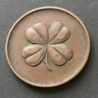 Early Four Leaf Clover God Be With You Til We Meet Again Good Luck Token