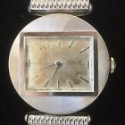 LUXURY! Vintage 1960s 14k SOLID WHITE GOLD Men's WRIST WATCH by Jaeger-LeCoultre