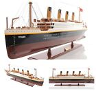 25-inch WOODEN RMS TITANIC CRUISE SHIP Model Collectable Painted Ocean Liner Art