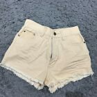 Vintage high waisted denim shorts in Nude pink colour wast size 27 inch