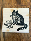 Rare Large Kliban Cats Rubber Stamp Mouse Gift BK013 1030 American Art NEW