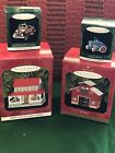 Hallmark Tin Town And Country Series Lot Of 4 Ornaments 1999
