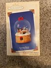 2003 Hallmark Keepsake SLEIGH RIDE WINTER WONDERLAND water globe ornament - NIB