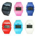 SHHORS Multifunction Solid Color Kids Watch LED Waterproof Swimming Watch S L1C7