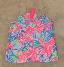 NWT Lilly Pulitzer Ruffled Dusk Top Multi Havana Cocktail Size Small Free Ship