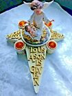 Christmas NATIVITY ANGEL ADVENT CANDLEHOLDER 2 Pieces NEW in box Beautiful