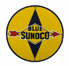 Blue Sunoco Gasoline Porcelain Advertising Sign