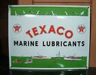 Texaco Sign Gas & Oil Advertising Sign Marine Products Lubricants Porcelain