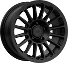 16 Inch 5 Lug 5x1143 5x45 Accord Civic Black Wheels 16x75 +40mm 4 Rims