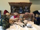 Hand made 16 piece Bear Nativity Set