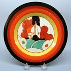 Clarice Cliff pottery hand painted Bizarre Fantasque House and tree plate 8
