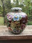 Japanese Hand Painted Figural Satsuma Tea Caddie Jar ISSUE FREE SHIP