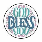 48 GOD BLESS YOU ENVELOPE SEALS LABELS STICKERS 12 ROUND