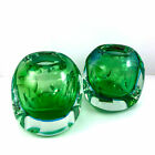 MURANO Italy  MANDRUZZATO  Faceted Double Cased Glass Sommerso Vases or Bowls