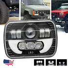 7x6 5X7 LED Headlight Hi Lo Beam Halo DRL Light For Jeep XJ YJ Toyata Nissan