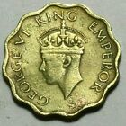 BRITISH INDIA ONE ANNA GEORGE VI KING EMPEROR ANCIENT VINTAGE COIN