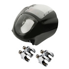 Quarter Head Fairing+Clear Windshield w/ Fork Clamp For Harley Sportster XL Dyna