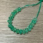 47mm 52mm Colombian Emerald Carved Melon Pumpkin Fluted Rondelle Bead 19