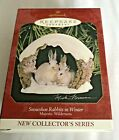 NIB Hallmark Ornament 1997 Majestic Wilderness Snowshoe Rabbits in Winter