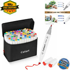 Caliart 100 Colors Dual Tip Alcohol Based Art Markers Permanent Twin WORLDWIDE