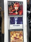 THREE Pat Benatar CDs-Very Best -extended Versions- Hits Live-ALL MINT