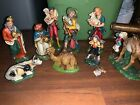 Large Scale Vintage Nativity Scene Set Christmas Decor Italy Avg 8 Hand Painted