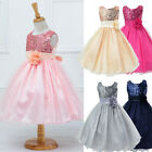 Girl Party Wedding Princess Bridesmaid Formal Dress Dresses Tutu Baby Kid Flower
