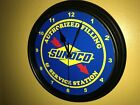 Sunoco Oil Gas Station AuthService Garage Advertising Wall Clock Sign