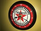 Texaco Oil Gas Station AuthService Garage Advertising Wall Clock Sign