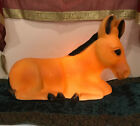 Vintage Christmas Orange Brown Donkey Nativity Empire Blow Mold Decoration Rare