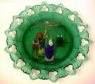 Fenton Glass Birth Of A Savior The Journey Spruce Green Plate 3rd In Series LE